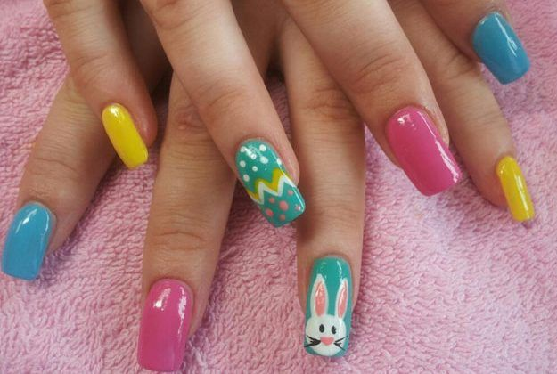 Your Easter isn't complete without these 18 Easter nail designs. From stripes to glitter, there's something for everyone to celebrate the holiday with. #easternaildesigns #makeuptutorials #nailart