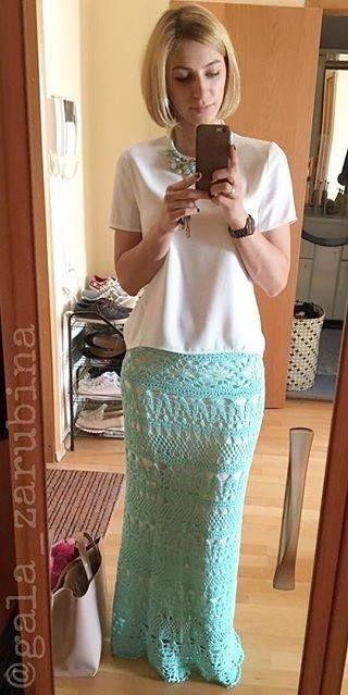 Crochet Maxi skirt pattern detailed tutorial summer cotton for