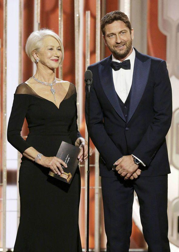 Golden Globes - Gerard Butler flirts up a storm with Dame Helen Mirren | Celebrity News | Showbiz & TV | Daily Express
