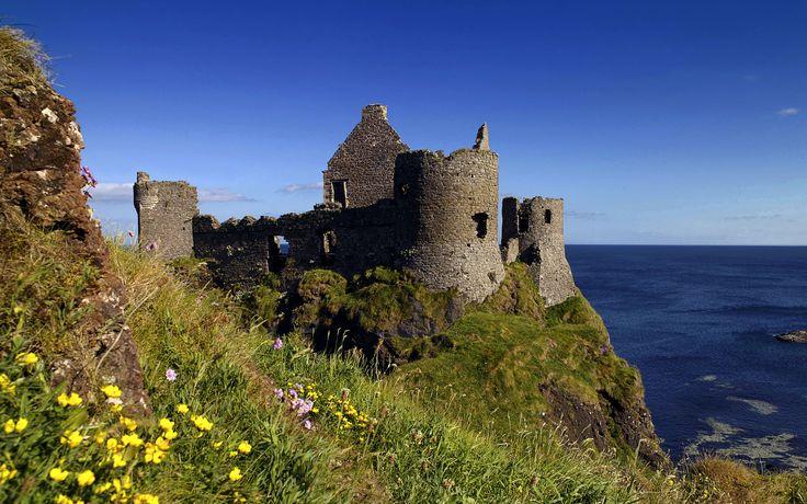 Belfast Northern Ireland Ruins Of Dunluce Castle Antrim Northern Ireland Uk Ireland