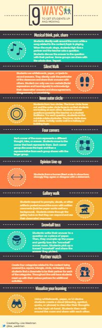 9 ways to get students up and moving