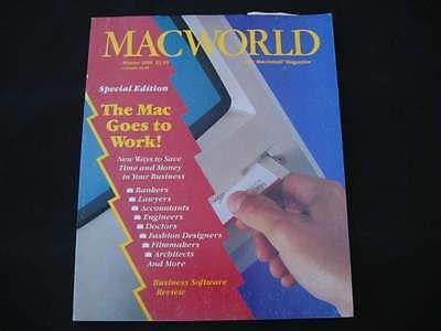 Winter 1986 Macworld Magazine Macintosh M0001 1984 128k 512k - Mac Goes to Work!