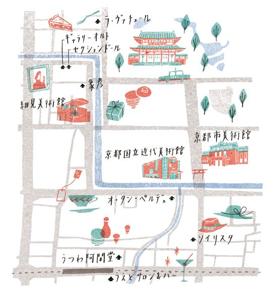 beautiful maps by Masako Kubo