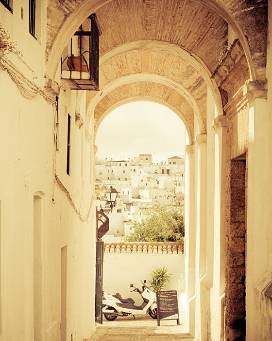 Spain Photograph -Whitewashed- Fine Art Photograph of the White Village in Spain 8x10. $30.00, via Etsy.