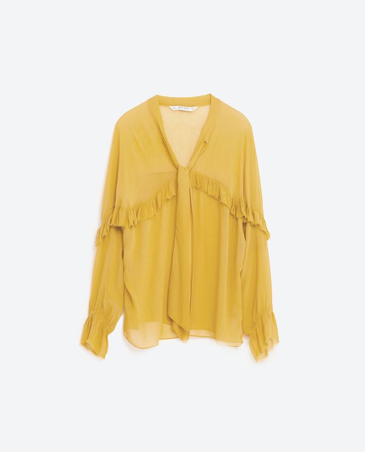 Image 8 of FRILLED FLOWING BLOUSE from Zara