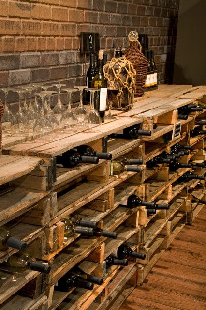 Design Ideas For Your Home With Pallets. Wine Cellar Pallet Shelf