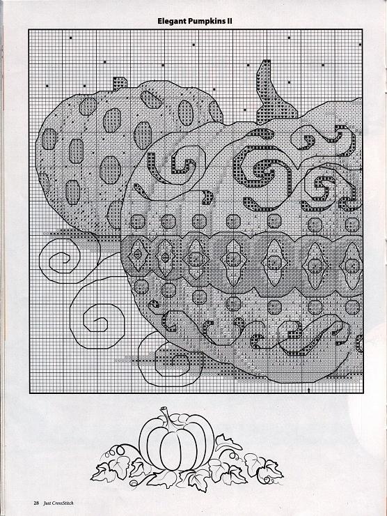 Elegant Pumpkin cross stitch part 1