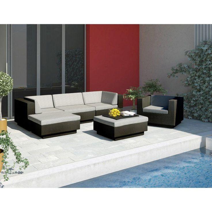 Sonax Park Terrace Textured Black Sectional Patio Set   6 Piece Part 40