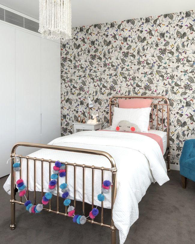 Black Rock, girls bedroom, wallpaper