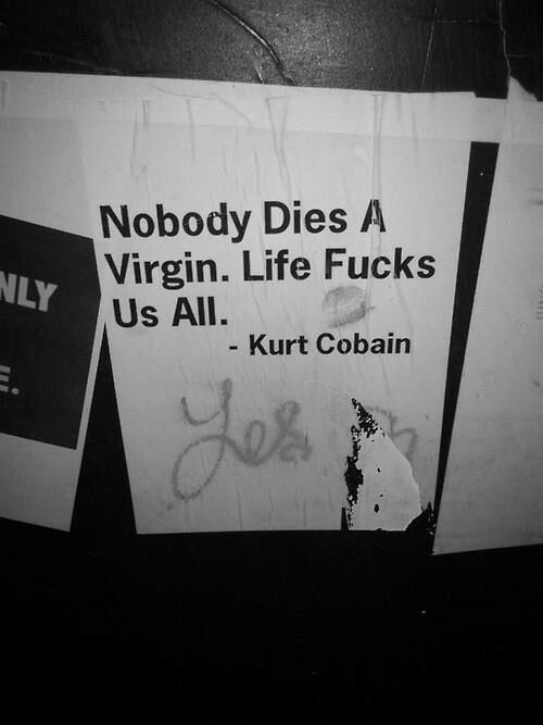 Nobody dies a Virgin. Life Fucks us all.