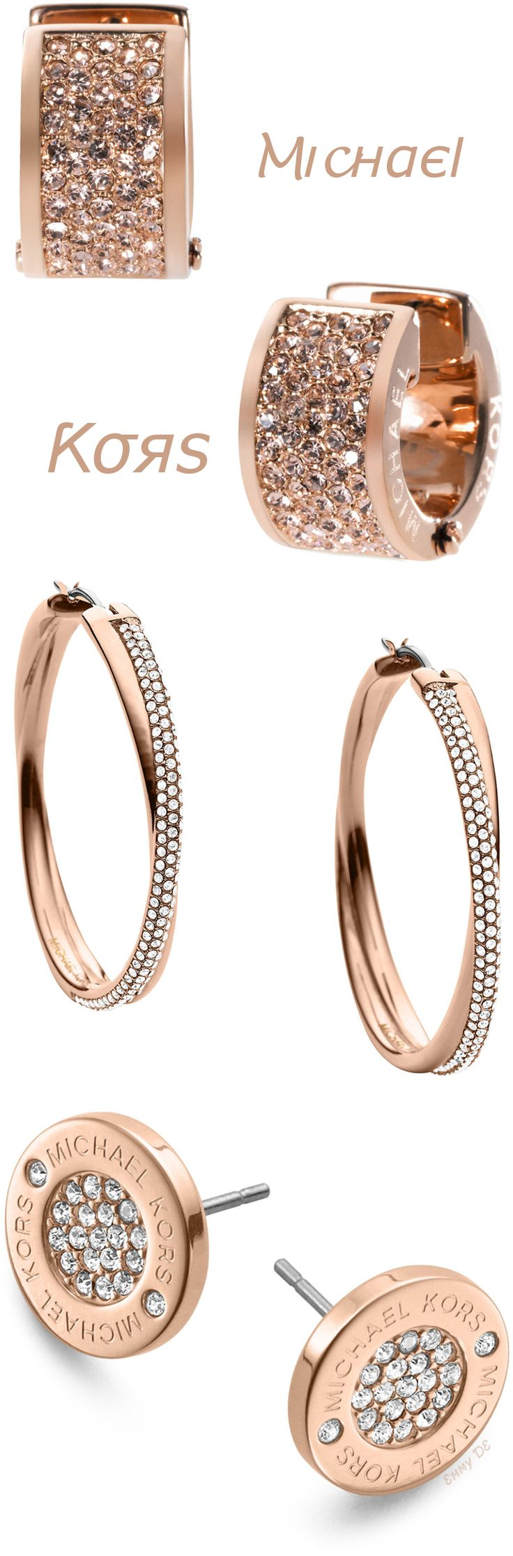 Brilliant Luxury ♦ Michael Kors Earrings