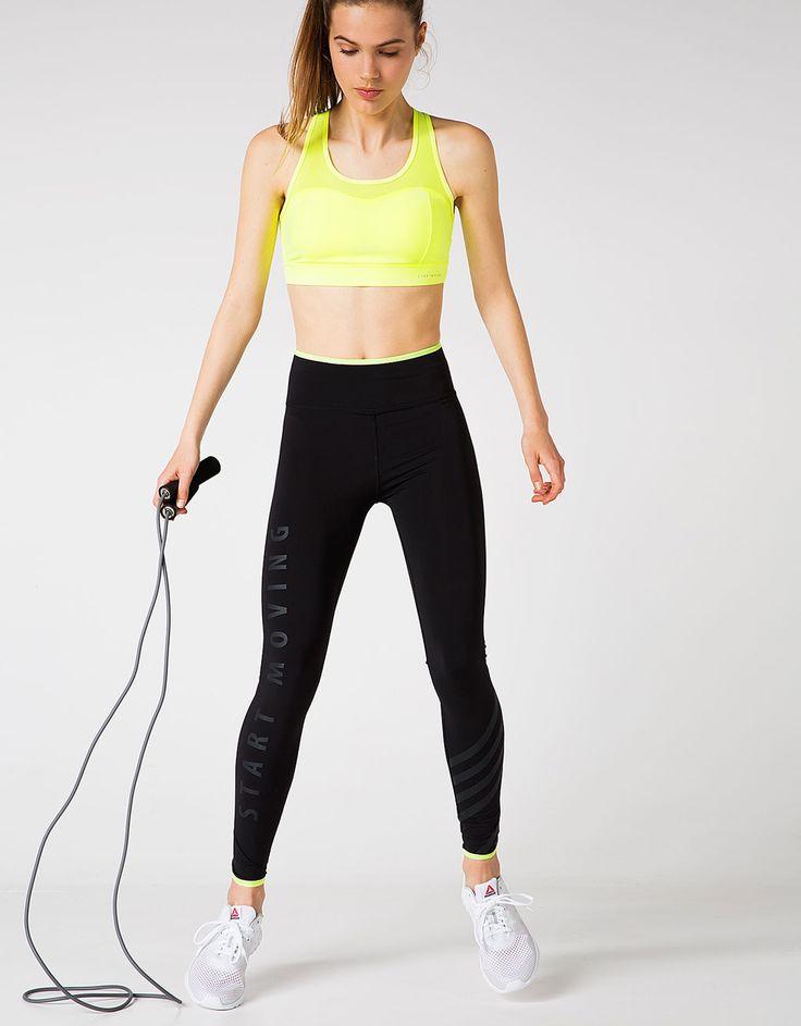 Start Moving technical sports leggings - Sport Start Moving - Bershka Sweden