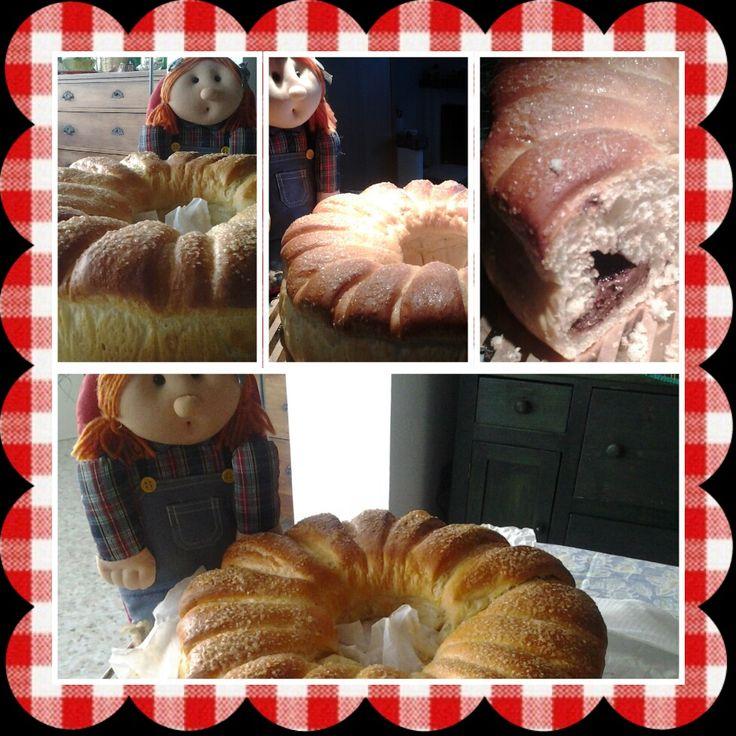 corona di pan brioche alla nutella:)