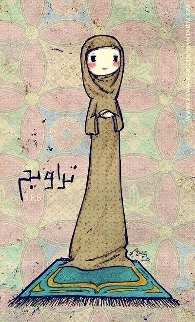 Muslim girl, taraweeh
