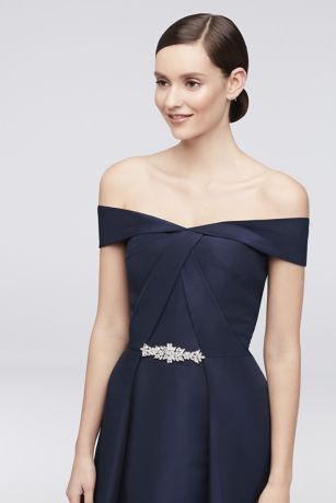 d5946cdb15 Long Blue Soft   Flowy Truly Zac Posen Bridesmaid Dress