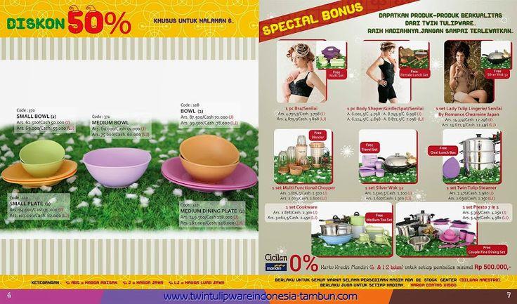 Promo Tulipware November - Desember 2014 | Diskon 50% & Special Bonus | Twin Tulipware SC. Tambun