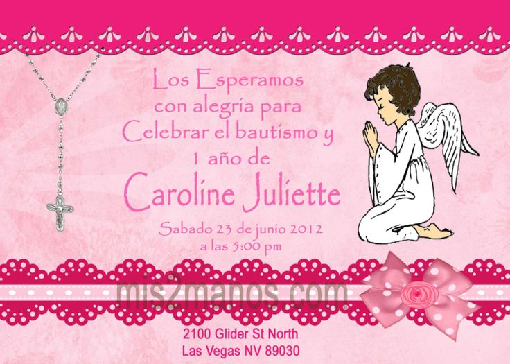17 Best ideas about Invitaciones Para Bautizo on Pinterest ...