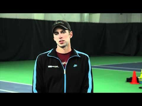 Tennis Fitness: Tennis Footwork Drill - 2-Cone Tennis Drills (Tennis Video) - YouTube