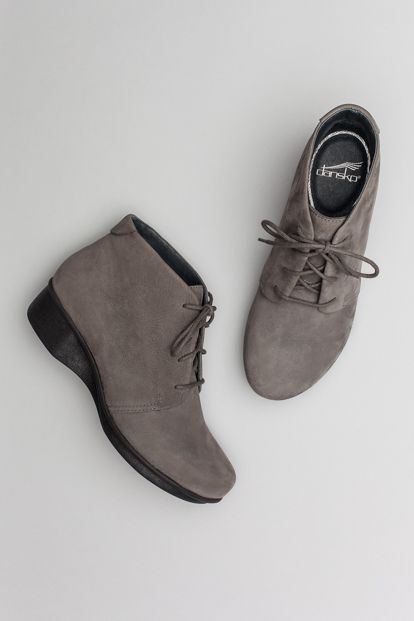 The Dansko Grey Nubuck from the Lucille collection.