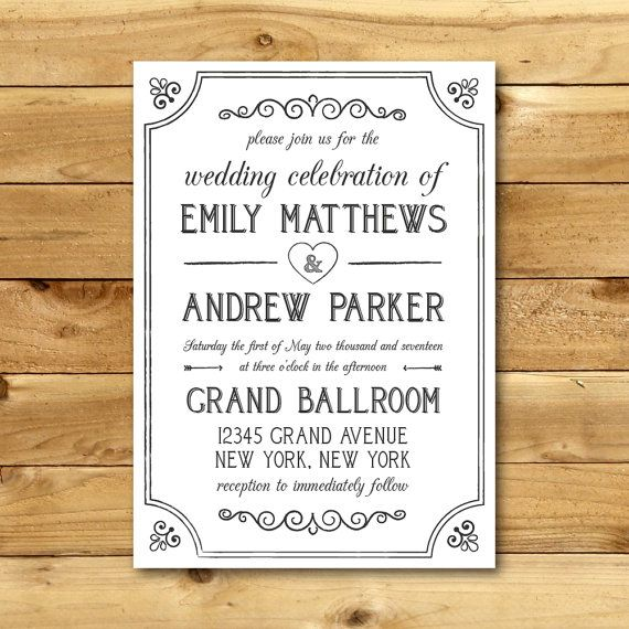 60 best Wedding Invitation Templates images on Pinterest Navy - invitation templates for microsoft word