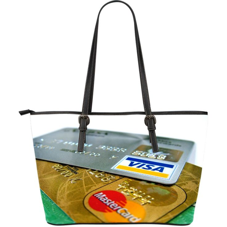 Grand sac Fourre-tout en cuir Cartes de crédit