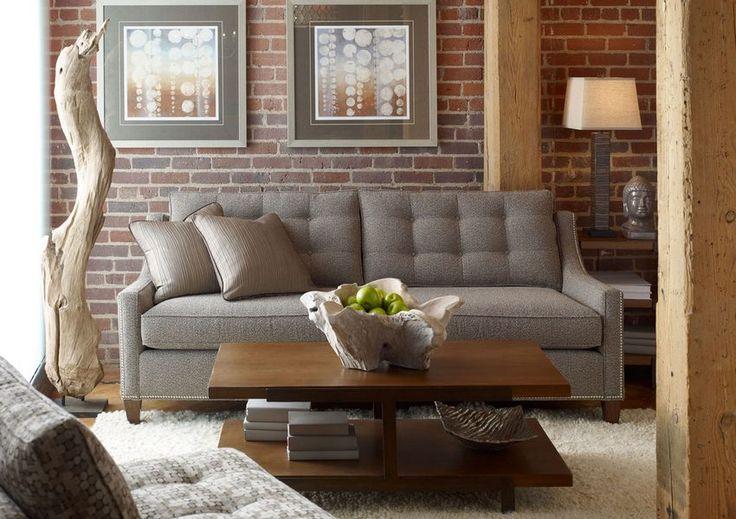 Tégla a lakásban - nyers vagy festett felületek, fal és padló - ötletek | kép: Candice Olson Design