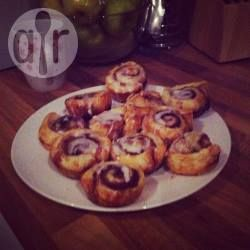 Puff pastry cinnamon rolls with icing glaze @ allrecipes.co.uk