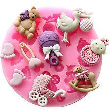 Детская душа силиконовый помадка для торта плесень плесень шоколад для выпечки кондитерского декор