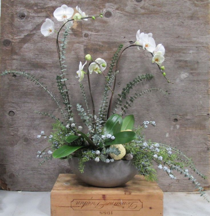 Holiday, Gift, Home or Office Orchid flower arrangement. www.dandelionranch.com