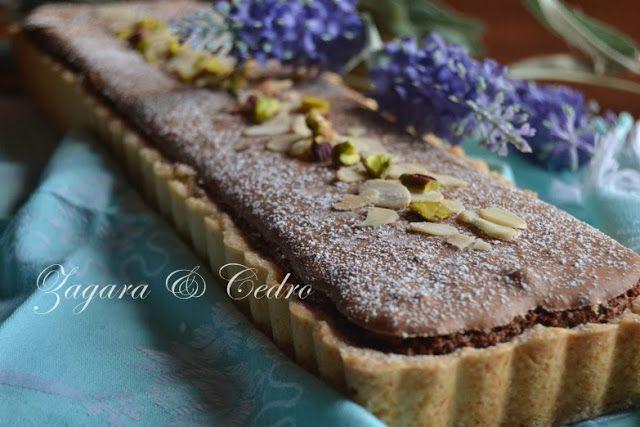 Crostata Frangipane al Cioccolato e Pistacchi | Zagara e Cedro