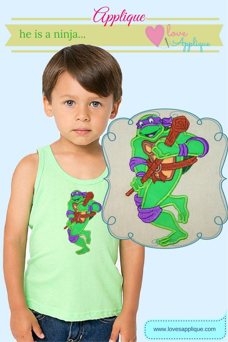 Ninja Turtle Applique Designs. Ninja Turtle Embroidery Designs. Ninja Turtle Designs. Ninja Turtle Party Ideas. Ninja Turtle Outfit Ideas, www.lovesapplique.com