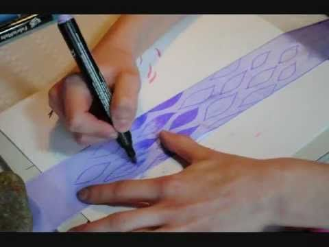 Rhythmic Gymnastics Ribbon Coloring Dye + Marker [pink, purple, blue]