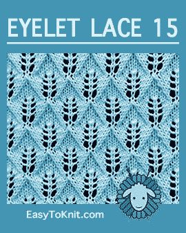 #Knit folhas de samambaia ponto, padrão de renda fácil ilhós #easytoknit #knitlace