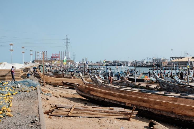 Tema Fishing Port with Karpower ship in the background