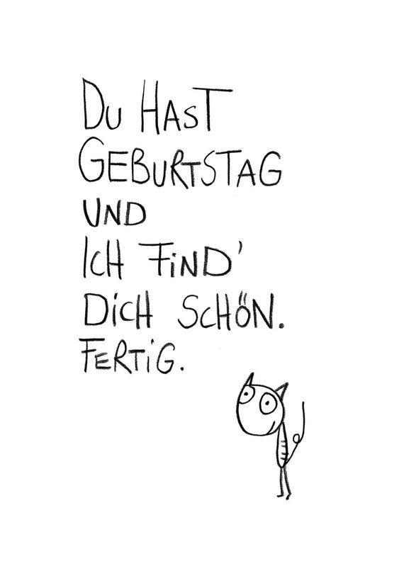 Postkarte Schöner Geburtstag.