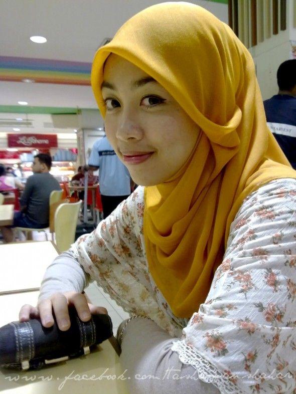 tudung bawal or square shawl