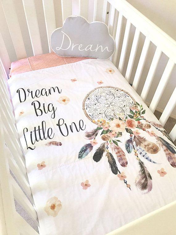 Boho Dream Big Cot Blanket Crib Quilt Set Cushion Fitted Sheet