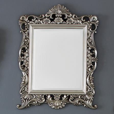 silver framed bathroom mirror silver ornate framed mirror dunelm mill portugal 20359