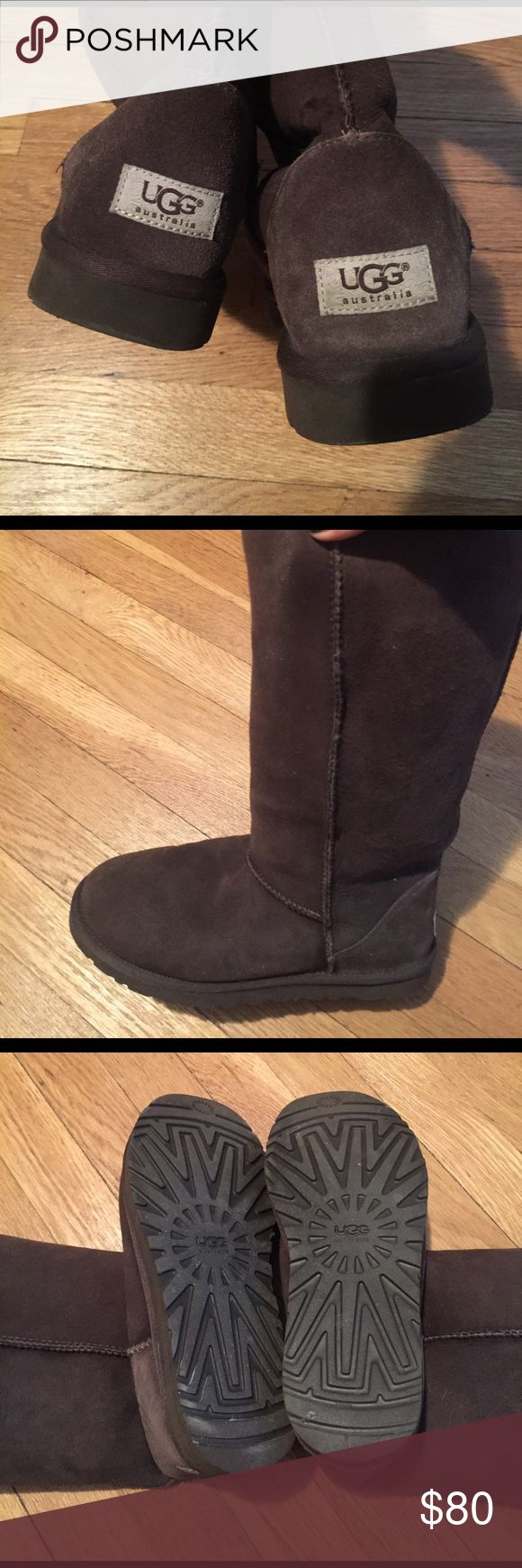 Chocolate Brown Tall Ugg Boots In great condition! Chocolate brown, tall UGG boots UGG Shoes Winter & Rain Boots