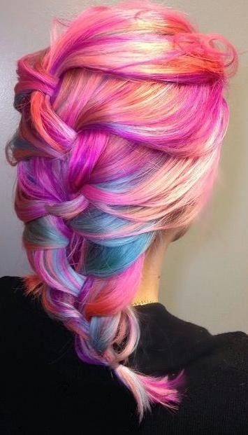 mermaid hair. colour tone. pink blue purple rainbow sherbet hair by @Jordan Glindmyer  http://www.behindthechair.com/displayarticle.aspx?ID=4382&ITID=2