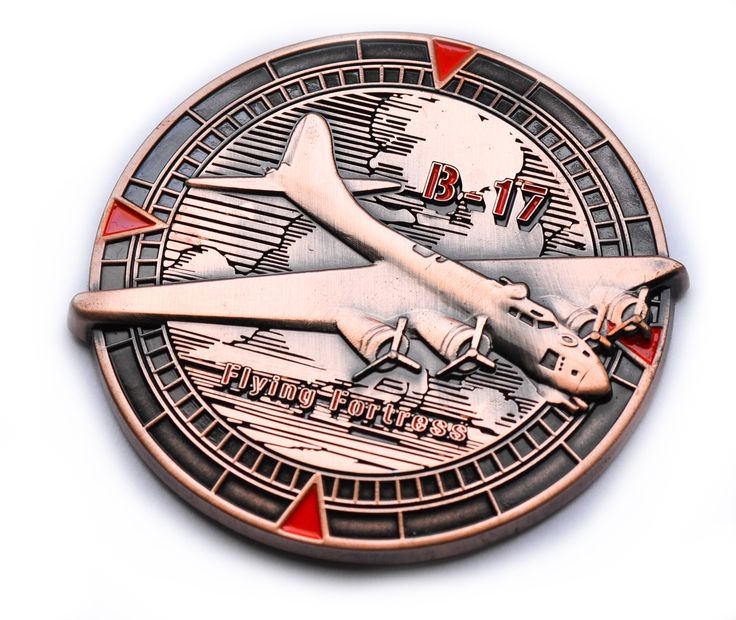 Antique copper - nonlimited version of Flying Fortress Geocoin www.geocoin4you.com