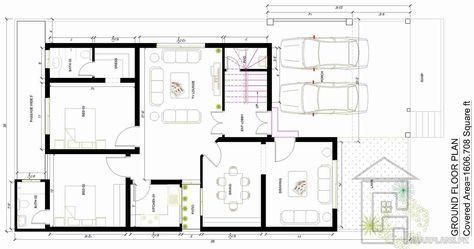 Marla House Map Basement Ground Floor