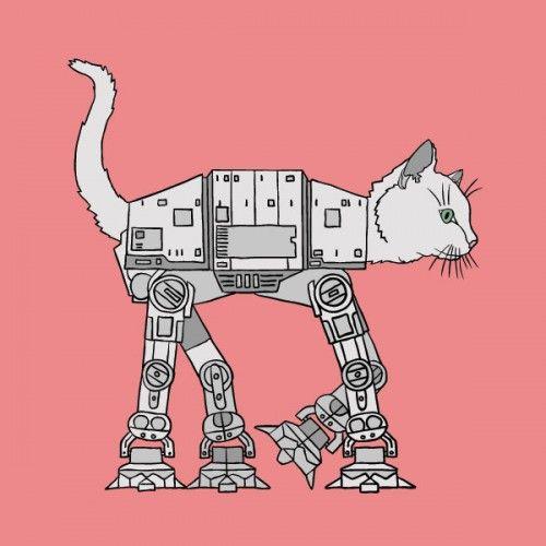 CAT-ATKitty Cat, Stars Wars Cat, Catcat, Art Prints, Catat, Cat At, Cat Cat, Cat Toys, Starwars