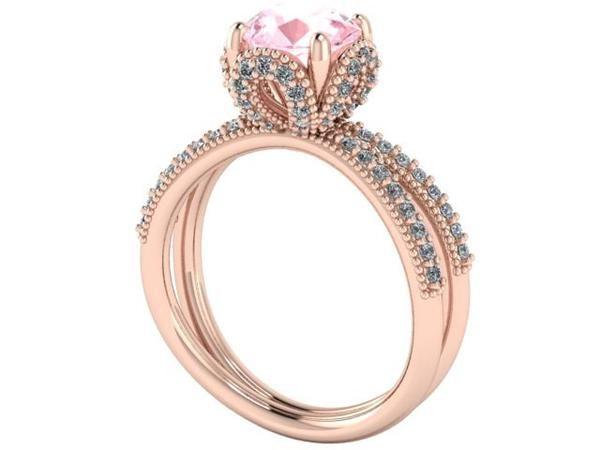 wedding rings, sweet 16 gift, rose Gold ring, rose gold diamond, princess rings - Engagement Rings