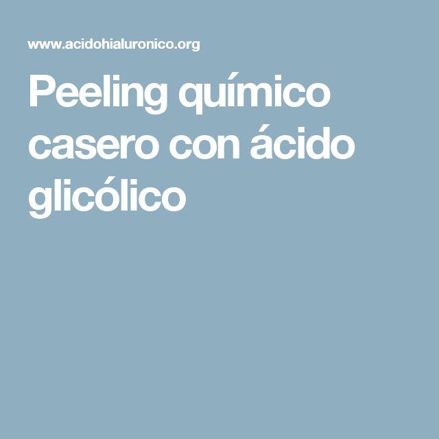 Peeling químico casero con ácido glicólico
