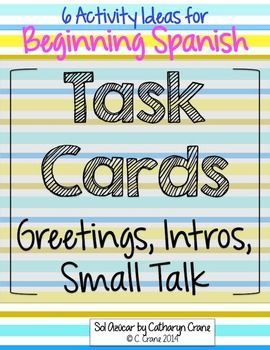 518 best spanish teaching ideas images on pinterest spanish practice basic spanish expressions greetings introductions small talk farewells with these m4hsunfo