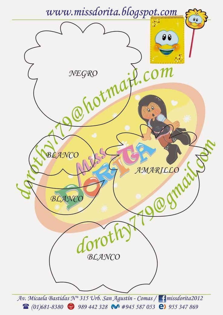Miss Dorita: Molde de Agenda y Lapiz
