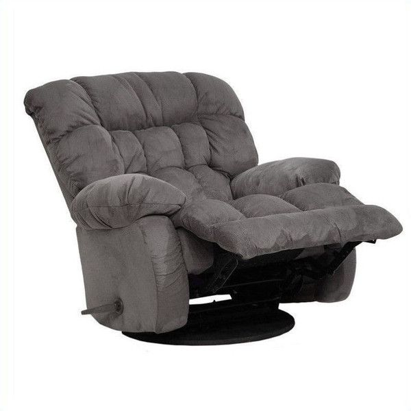 catnapper teddy bear oversized chaise swivel recliner 559 liked on polyvore featuring home - Swivel Rocker Chair