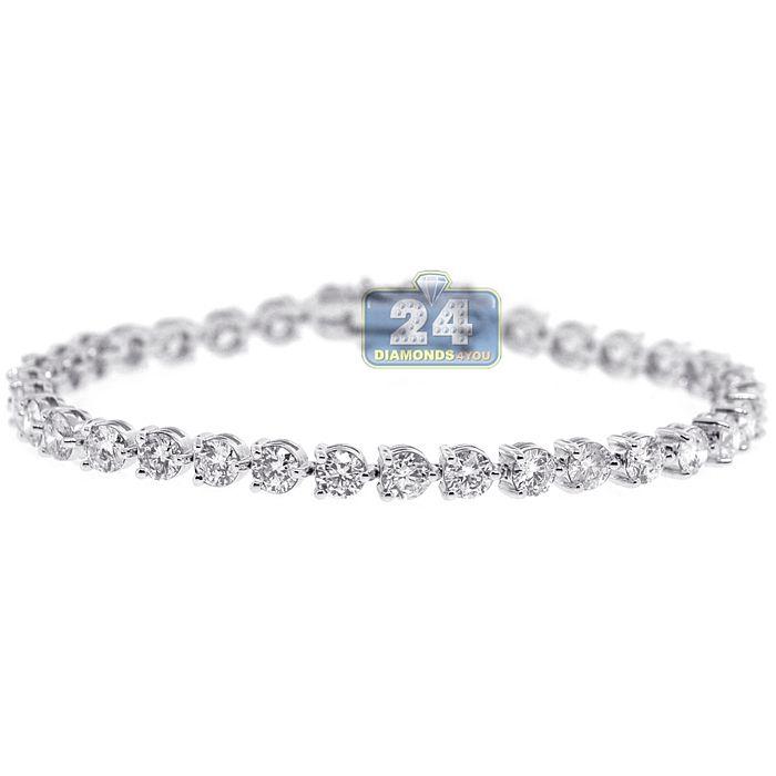 Womens Diamond Tennis Bracelet 18k White Gold 9 38 Ct 4 5mm 7 25 Tennis Bracelet Diamond Stylish Bracelet Pretty Bracelets