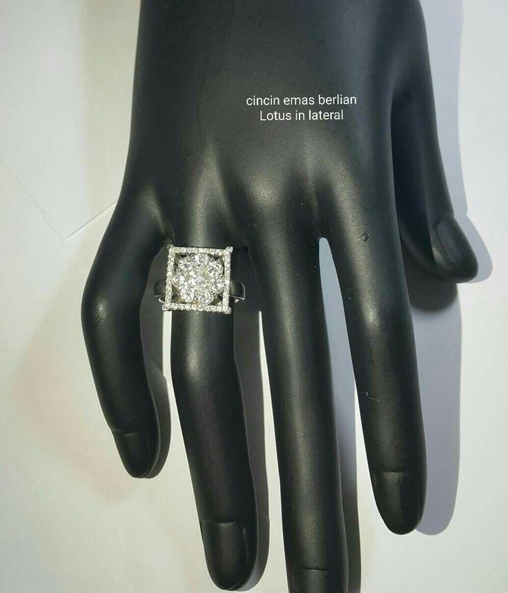 New Arrival🗼. Cincin Emas Berlian Lotus in lateral💍.   🏪Toko Perhiasan Emas Berlian-Ammad 📲+6282113309088/5C50359F Cp.Antrika👩.  https://m.facebook.com/home.php #investasi#diomond#gold#beauty#fashion#elegant#musthave#tokoperhiasanemasberlian